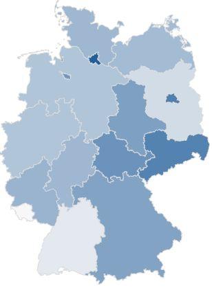 LTE-Versorgung in den Bundesländern